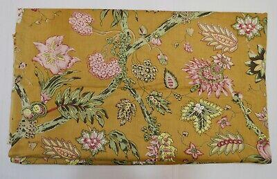 100/% Nutural Flower Printed Indian Hand Block Throw Blanket Matrieal 3 Yard Gift