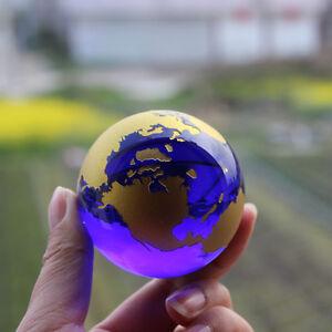Crystal Glass Globe World Map Feng Shui Crystals Sphere Terrarium