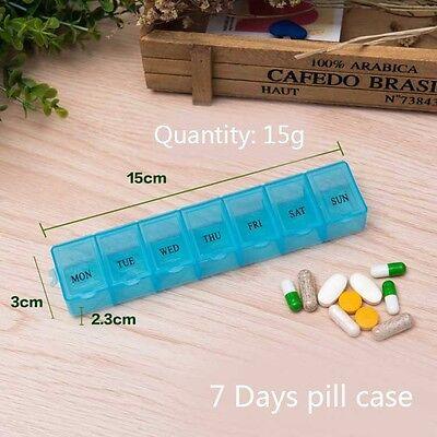 7 Days Pill Case Weekly Pill Box Medicine Dispenser Organiser Storage 3 Color