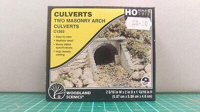 Accurato Woodland Scenics C1263 Two Masonry Arch Drainage Culverts Ho 1:87 Scale 2019 Nuovo Stile Di Moda Online
