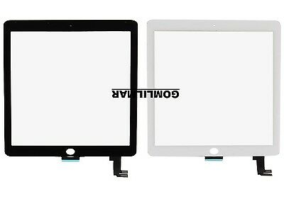 iPad Air 2 2nd Gen White Adhesived Front Glass Touch Screen Digitizer Tools