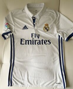 Real Madrid Jersey Authentic Adidas 2016/2017 #11 Bale Men's Size Small