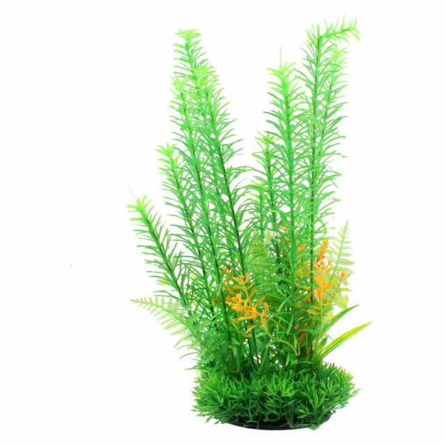 Fish Tank Fishbowl Ornament Green Artificial Aquatic Grass Plant 12.2""