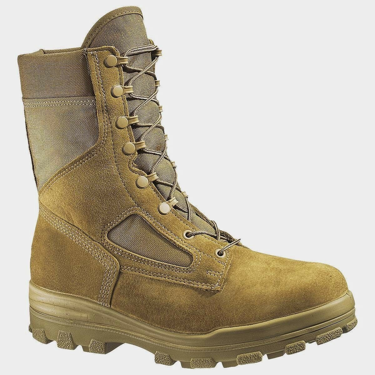 BATES 70701 US MARINES BOOTS ORIGINAL STEEL TOE MADE IN USA COYOTE 7-14 R EW