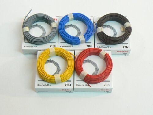 Märklin h0 7100 5 x cavo 7101 diversi Confezione Originale Nuovo 7105 7103 7102