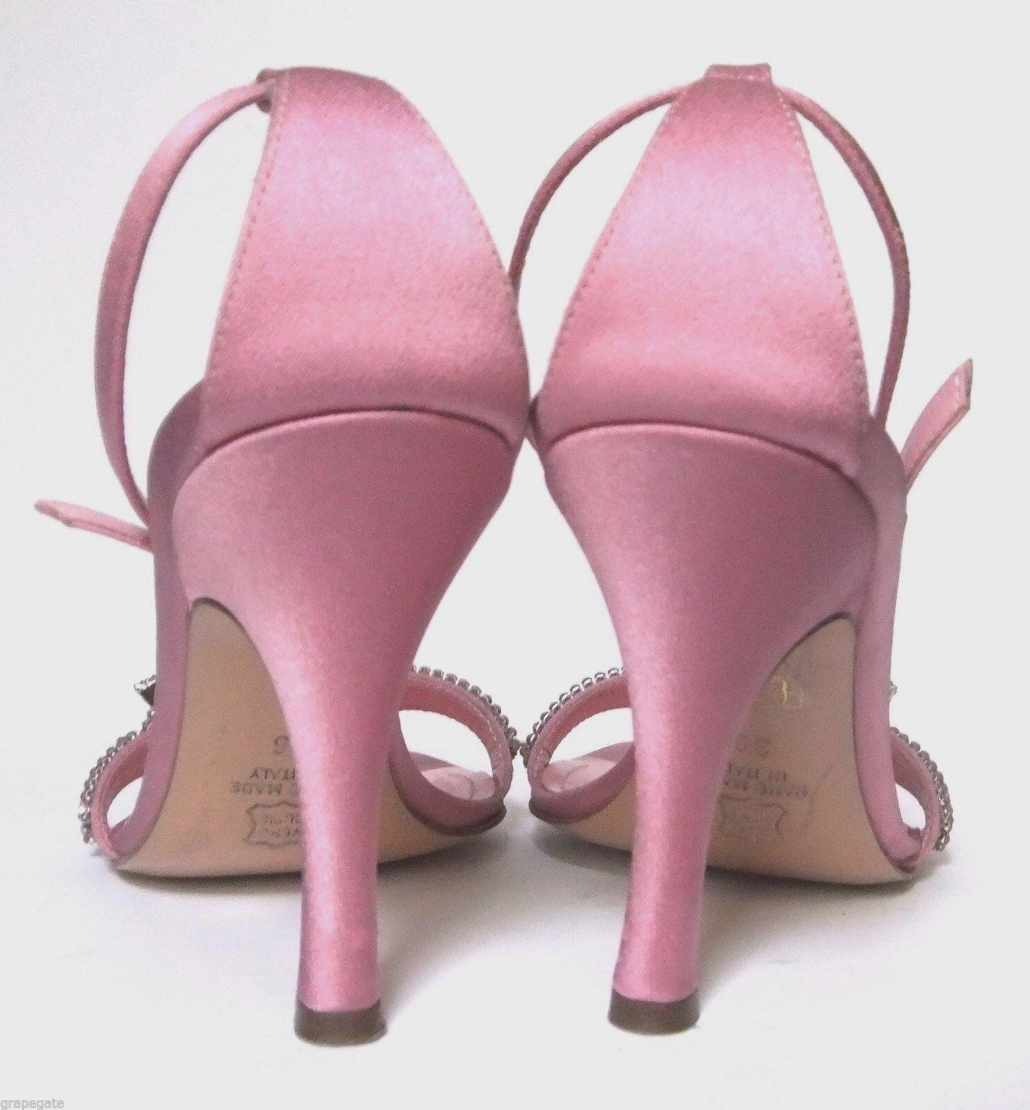 LERRE rosadododo rosadododo Leather-Satin-Crystals Stiletto Heel Strappy zapatos, 36  6,  36 592cee