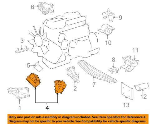 2x Engine Mount diesel Motor 2.7L 5Cyl Mercedes Dodge Sprinter 2000-2006 BG24004