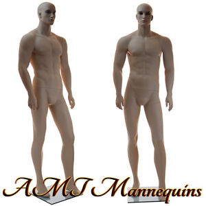 Male mannequin display, realistic young muscular looking, handmade manikin-XM110