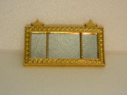 A1.20 1//12th scala casa delle bambole mensola per paesaggio color oro MIRROR