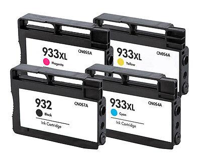 Reman HP 932Bk 933XL CMY Ink Cartridge for HP OfficeJet 6600 6700 6100 7610 4PK