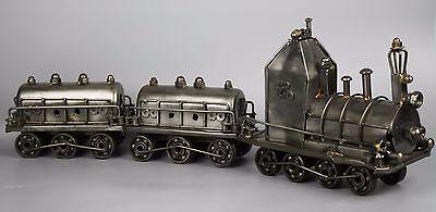 "Scrap Metal Sculpture Model Recycled Handmade Art Train (23"")"
