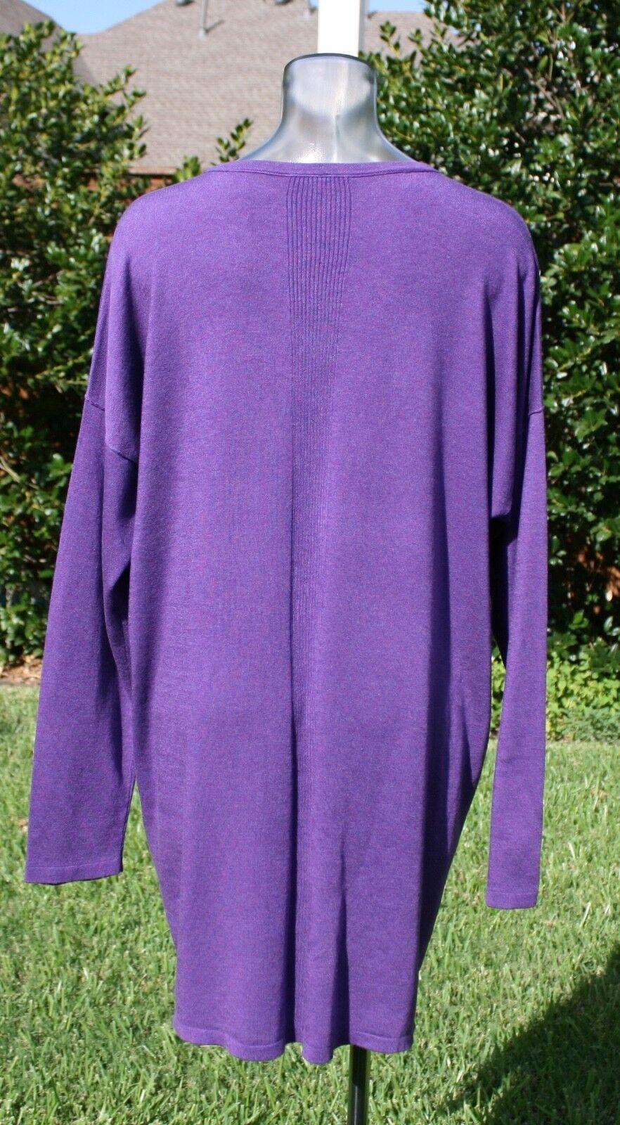 Eileen Fisher Lavender Lightweight VNeck Cardi NWT $158