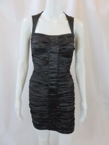 1037fd787db Image is loading Nicole-Miller-Little-Black-Ruched-Dress-Size-0
