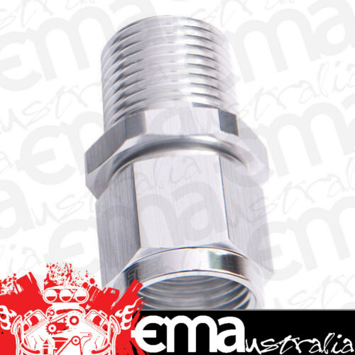 "Aeroflow AF916-08-06S 3//8/"" NPT to 8AN Female Nut Silver Straight Swivel Nut"