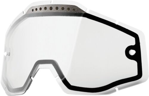 Clear 2602-0506 100/% Dual Vented Lens for Racecraft//Accuri Goggles