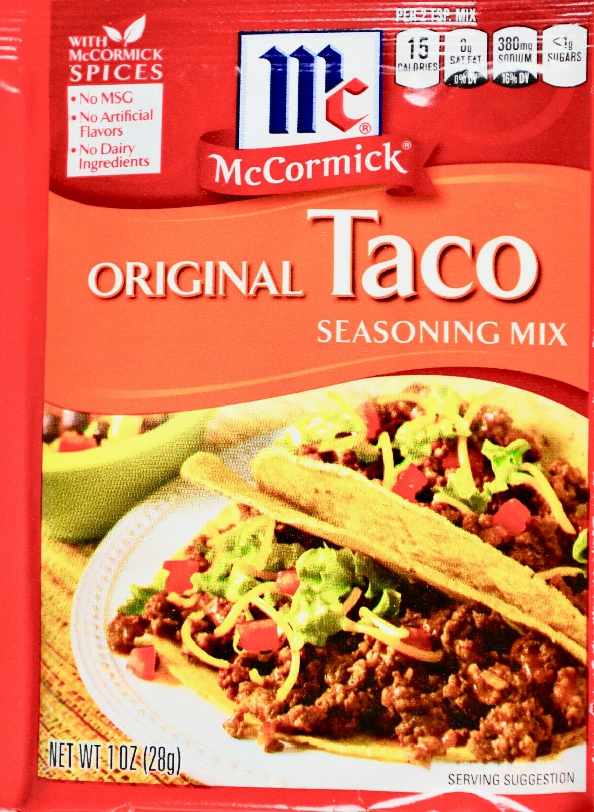 Mccormick Original Taco Seasoning Mix 12x1oz Pockets For Sale Online Ebay