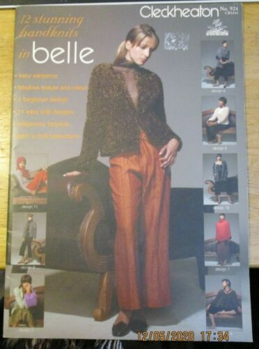 Cleckheaton knitting pattern no. 924 in belle 12 stunning handknits sizes SXL
