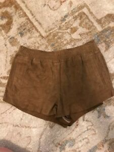 Brown 2 Braided Topshop Uk 6 Suede Kate Shorts Us Moss qPpwt0xt