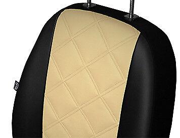 VAUXHALL VIVARO 2001-2014 2+1 ECO LEATHER EMBOSSED TAILORED SEAT COVERS