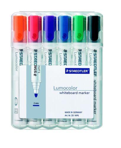 STAEDTLER Lumocolor Whiteboard Marker 6er-Etui 351 WP6 2mm Boardmarker NEU /& OVP