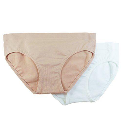 Pack 2 Fruit of the Loom Big Girls Seamless Bikini Brief Pick SZ//Color.