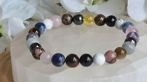 ANXIETY, PROTECTION & CONCENTRATION - CRYSTAL HEALING GEMSTONE BRACELET