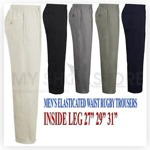 MENS-RUGBY-TROUSERS-FULL-ELASTICATED-WAIST-CASUAL-SMART-POCKET-PANTS-BIG-PLUS