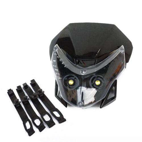 Motorcycle Headlight DC 12V Motorbike Front LED Headlamp Light Motor Head Lamp