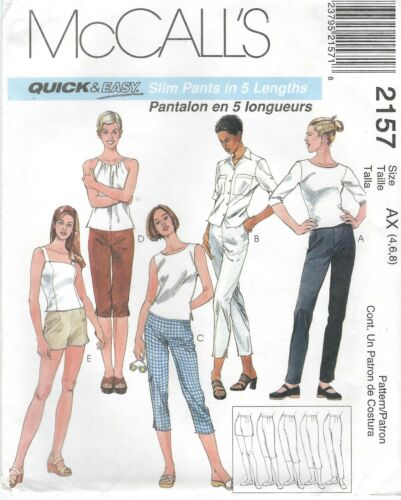 McCall/'s 2157 Misses/' Pants in Five Lengths    Sewing Pattern