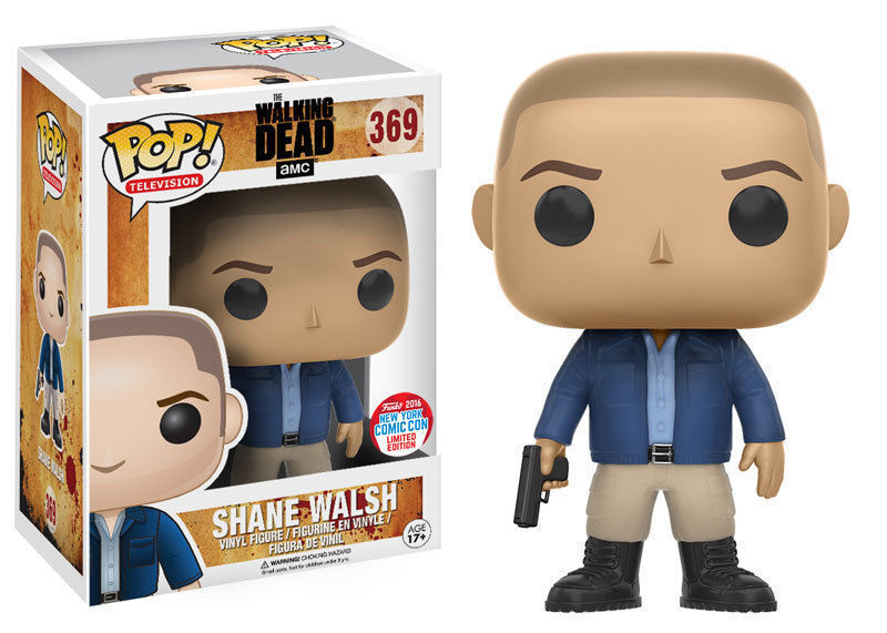 EXCLUSIVE NYCC THE WALKING DEAD SHANE WALSH 3.75  POP TV VINYL FIGURE FUNKO