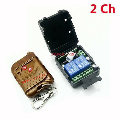 DC 12v 10A relay 2CH 2 channel wireless RF Remote Control Switch on/off