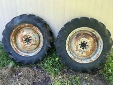 53 Ford Jubilee Naa Tractor Rear Back Wheels Rims Tires Right Left Set 124 28