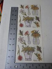 PROVO CRAFT FLORALS VASES FLOWERS STICKERS SCRAPBOOKING A3210