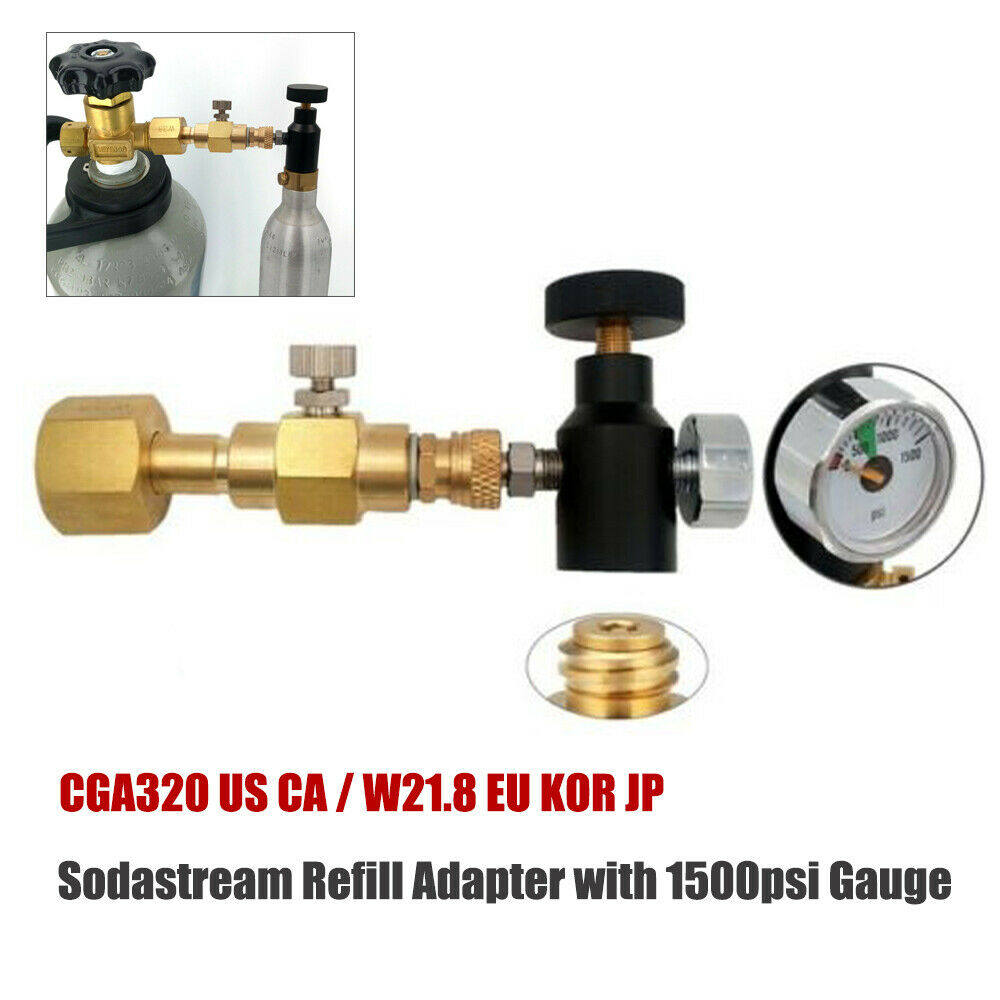 Sodastream Soda Maker CO2 Carbonator Cylinder Canistor Refill Adapter Adaptor