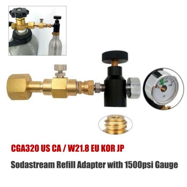 60inch Soda Stream CGA320 CO2 Cylinder Tank Bottle Fill Station Adapter Hose Connector Kit for Soda Maker Filling Sodastream Tank