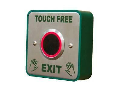Actief Surface Mount Touch Free Time Delay Sensor Exit Button Plate Access Release Led Winst Klein