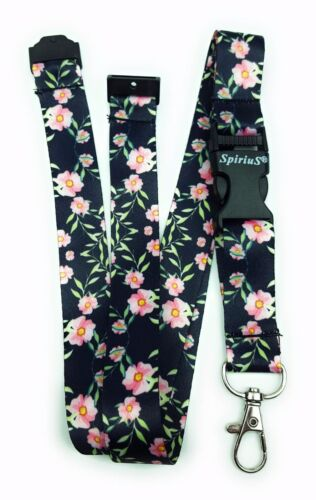 SPIRIUS Flowers Breakaway Lanyard Neck strap for ID card badge Holder keychain f