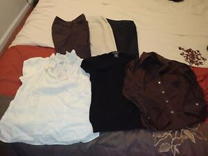 Womens-Career-Work-Casual-Clothes-XS-and-0-Lot-of-of-6-Tops-Banana-Republic