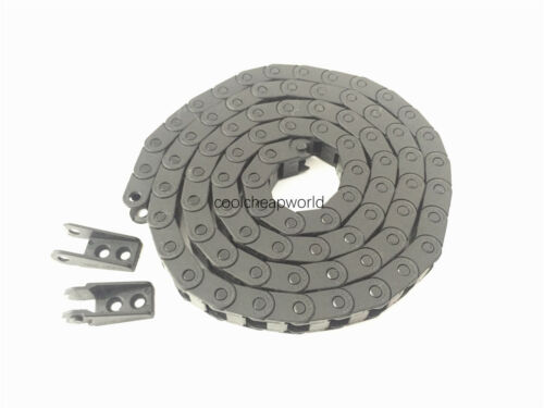 """1pcs Cable Drag Chain Wire Carrier 7*7mm 7mm x 7mm R18 1000mm 40/"""" for CNC"""