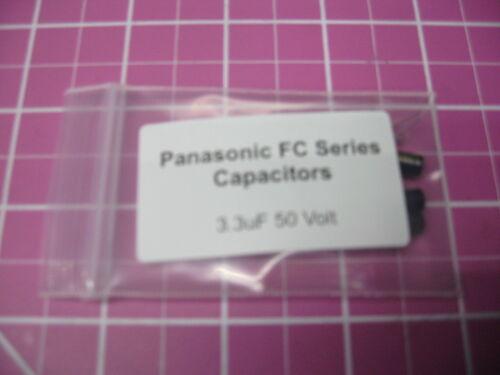 10 Pieces Panasonic FC Series 50V 3.3uF Radial Electrolytic Capacitors
