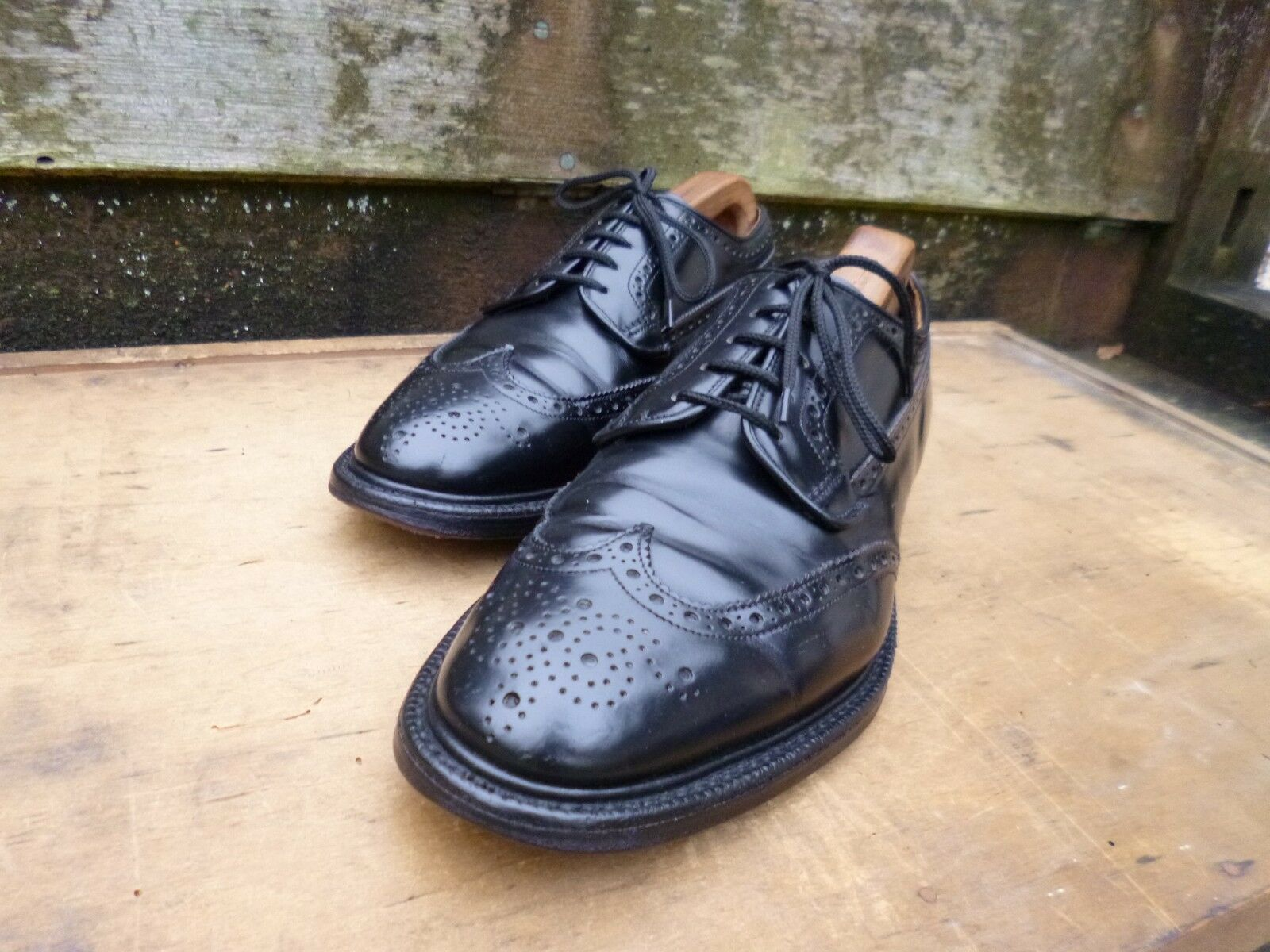 CHURCH BROGUES – schwarz – GRAFTON – UK 7.5 – – – VERY GOOD CONDITION e40bc2