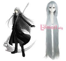 Black Butler Kuroshitsuji Undertaker Costume Hair Cosplay Wig ml141+Free Goft