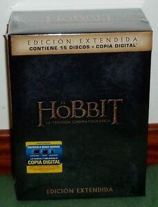 EL HOBBIT LA TRILOGIA EDICION EXTENDIDA 15 DVD NUEVO PRECINTADO (SIN ABRIR) R2