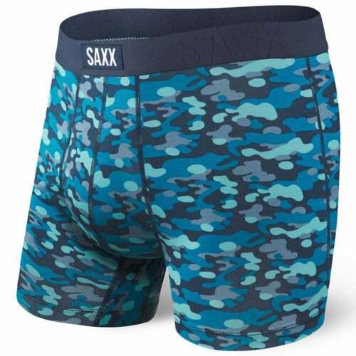 SAXX Undercover Camo Print Men/'s Fly Boxer Brief Blue