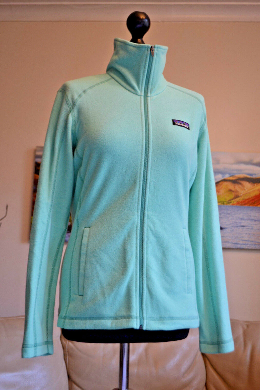 Patagonia Damenschuhe Micro D Jkt Fleece Top LS Lightweight Sz Mint Grün Sz Lightweight Small fa12ec