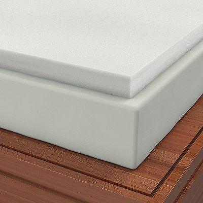 """Soft Sleeper 5.5 King 2/"""" Memory Foam Mattress Pad W// FREE PILLOW!"""