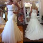 New White/ivory Lace mermaid Wedding Dress Bridal Gown stock sz: 6-8-10-12-14-16