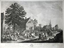 DAVID TENIERS FÉTE FLAMANDE J.P. LE BAS PARIS VOLKSFEST SZENE GROSSER STICH 1776