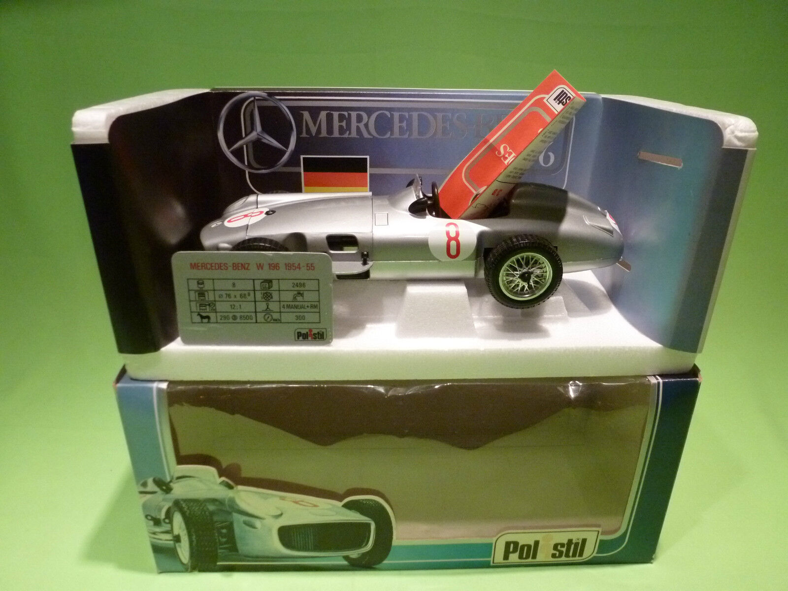 POLISTIL  TG9 1 18 MERCEDES BENZ   RW 196 - RARE SELTEN - GOOD CONDITION IN BOX