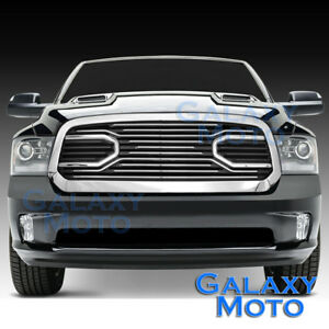 13-17-Dodge-RAM-Truck-1500-Front-Hood-Big-Horn-Chrome-Replacement-Grille-Shell